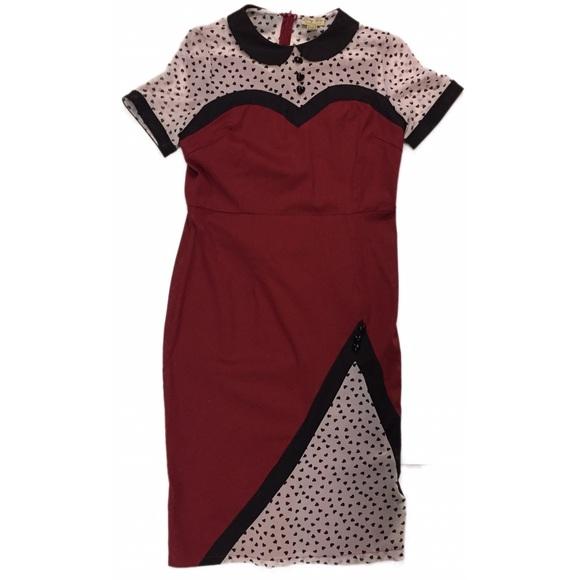 14ca624c17c0b Lindy Bop Dresses & Skirts - Lindy Bop Wilma Rockabilly Wiggle Dress 50's  Style